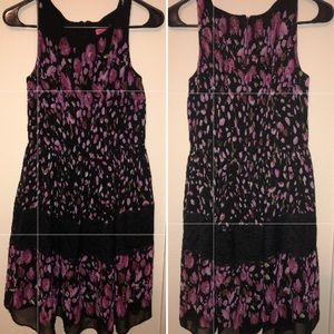 Betsey Johnson Watercolor Floral Dress with Lace
